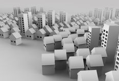 Papercraft Building. Paper model of the city represent architecture and landscape planning Royalty Free Stock Photo