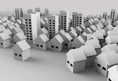 Papercraft Building. Paper model of the city represent architecture and landscape planning Royalty Free Stock Photos