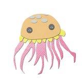 Papercraft do tecido das medusa Imagens de Stock