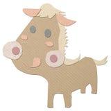 papercraft do tecido do cavalo dos desenhos animados Foto de Stock Royalty Free