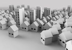 Papercraft-Gebäude Stock Abbildung