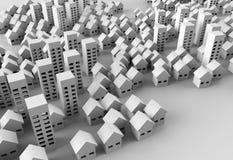 Papercraft-Gebäude Lizenzfreie Abbildung