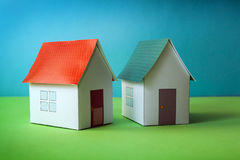 Papercraft House Stock Photo