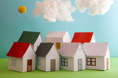 Papercraft House Royalty Free Stock Photos