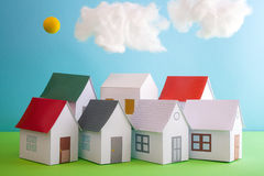 Papercraft House Stock Photos