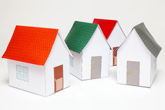 Papercraft House Stock Photography