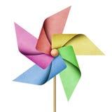 Papercraft réutilisé par moulin à vent Images stock