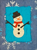Papercraft snowman Stock Photos