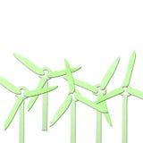 Papercraft verde do tecido do gerador de vento Imagens de Stock Royalty Free