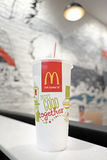 A papercup of McDonalds restaurant. A papercup of tea in McDonalds restaurant, Sai Gon, Viet Nam Stock Photos