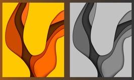 Papercut κίτρινο διανυσματική απεικόνιση