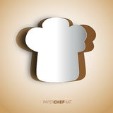 Papercut chef hat background Royalty Free Stock Image