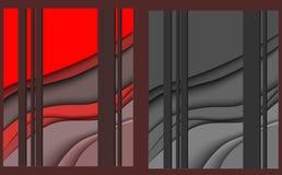 Papercut czerwieni szarość royalty ilustracja