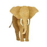 Papercut Elephant Recycled Paper Stock Photo
