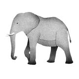 Papercut Elephant Recycled Paper Royalty Free Stock Photography