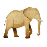 Papercut Elephant Recycled Paper Royalty Free Stock Photo