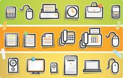 Papercut Ikone - Büro-Serie Lizenzfreie Stockbilder
