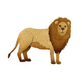 Papercut Lion Recycled Paper Stock Images