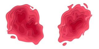 Papercut purpurowa wielo- warstwa na białym tle royalty ilustracja