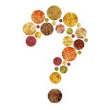 Papercut question mark Royalty Free Stock Photography