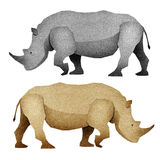 Papercut Rhino Recycled Paper Royalty Free Stock Photo