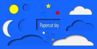 PAPERCUT Sky vector illustration