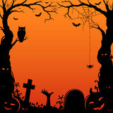 Papercut style halloween border Stock Photography