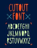 Papercut vector font Stock Photo