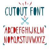 Papercut vector font Stock Photos