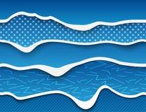 PaperCut-Welle lizenzfreie abbildung