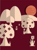 A paperdut theme Royalty Free Stock Image