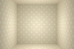 Papered cube Royalty Free Stock Image