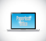 Paperless office laptop illustration design Royalty Free Stock Image