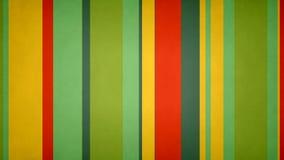 Paperlike πολύχρωμος λωρίδων 4k βρώμικος ζωηρός χρωμάτων βρόχος @60fps υποβάθρου φραγμών τηλεοπτικός ελεύθερη απεικόνιση δικαιώματος