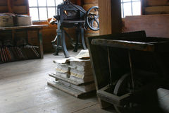 Papermill velho fotos de stock royalty free