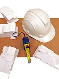 PaperModelsMeasureHelmetFive Stock Images
