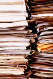 Papers. Tower of dirty and old office paper Royalty Free Stock Image