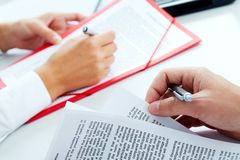 Papers Royalty Free Stock Images