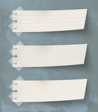 Papers. Set of three vintage paper's labels Royalty Free Stock Photo