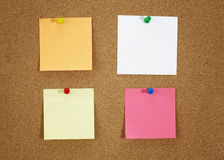 Papers on the board Royalty Free Stock Photos