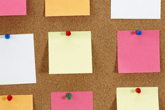 Papers on the board Royalty Free Stock Image