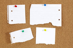 Papers on the board Stock Image