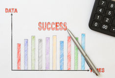 Papers charts success of business. Papers charts of success for business royalty free stock image