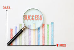 Papers charts success of business. Papers charts of success for business stock images