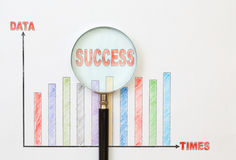Papers charts success of business. Papers charts of success for business stock photo