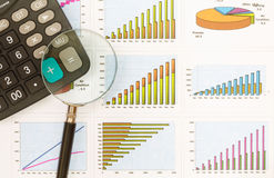 Papers charts of successful business Stock Photos