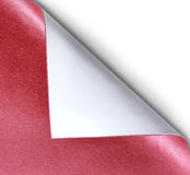 Papers with a curl. Curled red page corner ready for your design Royalty Free Stock Photos