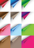 Papers with curve corner Royalty Free Stock Photography