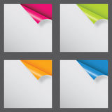Papers with different corner Royalty Free Stock Photography