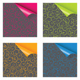 Papers with different corner Royalty Free Stock Images